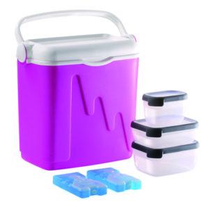 lodówka z wkładami i pojemnikami