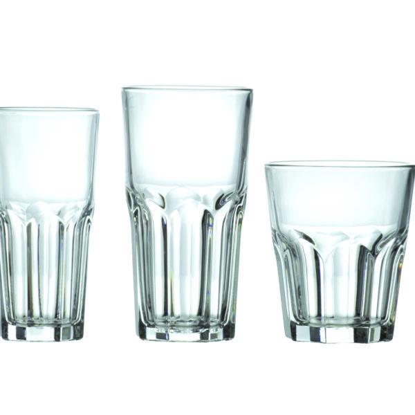 Komplet szklanek, 18 elementów